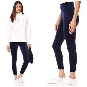Spanx shaping velvet leggings